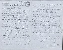 Cartas de Benito Pérez Galdós a Carlos Fernández Shaw.