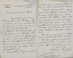 Cartas de Tomás Borrás a Carlos Fernández Shaw.