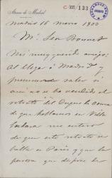 Cartas de Aureliano Beruete a Leon Bonnet.