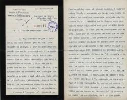 Cartas de Joaquín Fesser a Carlos Fernández Shaw.