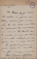 Cartas de José Ramón Mélida a Carlos Fernández Shaw.
