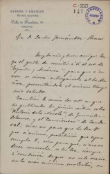 Cartas de Eusebio Negrete a Carlos Fernández Shaw.