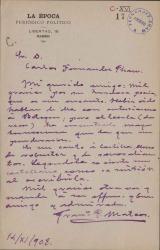 Cartas de Francisco Pérez Mateos a Carlos Fernández Shaw.