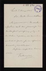Cartas de Federico Joly a Carlos Fernández Shaw.