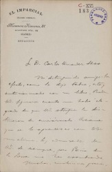 Cartas de Félix Lorenzo a Carlos Fernández Shaw.