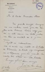 Cartas de José de la Loma a Carlos Fernández Shaw.