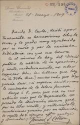 Cartas de Ismael Sánchez Estevan a Carlos Fernández Shaw y Cecilia Iturralde, su esposa.