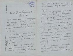Cartas de Manuel Rovira y Serra a Carlos Fernández Shaw.