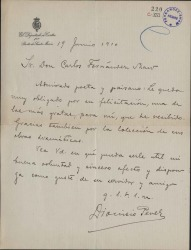 Cartas de Dionisio Pérez a Carlos Fernández Shaw.