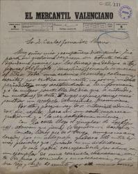 """Cartas de José María L. López """"Mascarilla"""" a Carlos Fernández Shaw."""