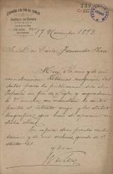 Cartas de J. Valero a Carlos Fernández Shaw.
