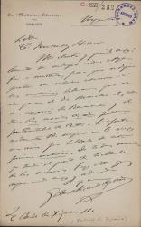 Cartas de Gabriel Ricardo España a Carlos Fernández Shaw.