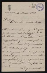 Cartas de Federico de Viesca de la Sierra, Marqués de Viesca de la Sierra, a Carlos Fernández Shaw.