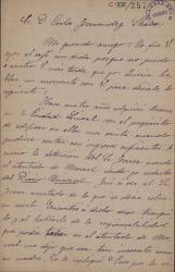 Cartas de Federico Morales a Carlos Fernández Shaw.