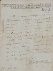 Cartas de José Campo Moreno a Carlos Fernández Shaw.