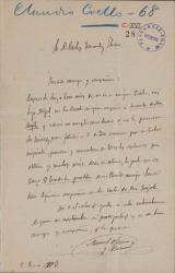Cartas de Manuel Ossorio y Bernard a Carlos Fernández Shaw.