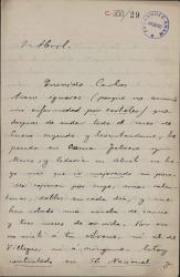 Cartas de José Cánovas a Carlos Fernández Shaw.