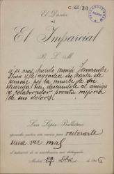 Cartas de Luis López-Ballesteros a Carlos Fernández Shaw y Cecilia Iturralde, su esposa.