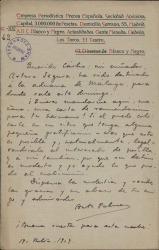 Cartas de Antonio Palomero a Carlos Fernández Shaw.