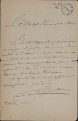 Cartas de Serafín Adame a Carlos Fernández Shaw.
