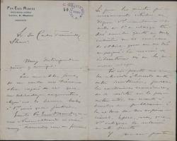 Cartas de Emilio Huguet del Villar a Carlos Fernández Shaw.