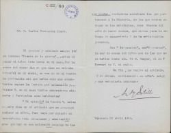 Cartas de Antonio Sotillo a Carlos Fernández Shaw.