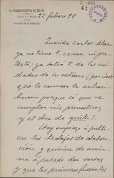 Cartas de Wenceslao Blasco a Carlos Fernández Shaw.
