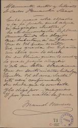 Cartas de Manuel Meneses a Carlos Fernández Shaw.