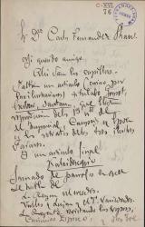 Cartas de Enrique Sepúlveda a Carlos Fernández Shaw.