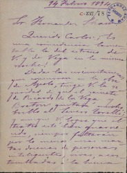 Cartas de Pedro Bofill a Carlos Fernández Shaw.
