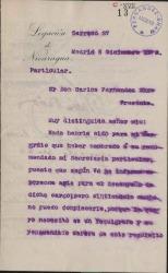Cartas de Ruben Darío a Carlos Fernández Shaw.