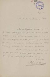 Cartas de Félix González Llana a Carlos Fernández Shaw.