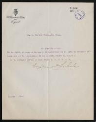 Cartas de Eugenio Silvela a Carlos Fernández Shaw.