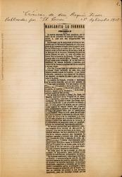 """Cuaderno 12 (1908-1909). Fotos y crónicas sobre """"Margarita la Tornera""""."""