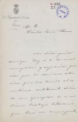 Cartas de Antonio Cánovas del Castillo a Carlos Fernández Shaw.
