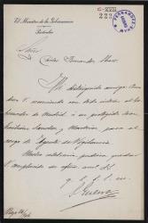 Cartas de José Sánchez Guerra a Carlos Fernández Shaw.