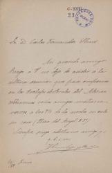 Cartas de José Canalejas a Carlos Fernández Shaw.