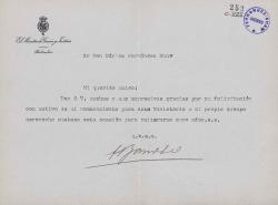 Cartas de Antonio Barroso a Carlos Fernández Shaw.