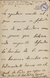 Cartas de Emilio Castelar a Arthur E. Houghton.