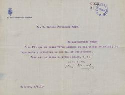 Cartas de Luis Canalejas a Carlos Fernández Shaw.