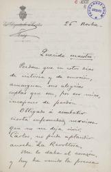 Cartas de Mariano Ordóñez a Carlos Fernández Shaw.