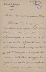 Cartas de Manuel Sáenz de Quejana a Carlos Fernández Shaw.