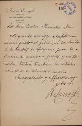 Cartas de José de Carvajal a Carlos Fernández Shaw.