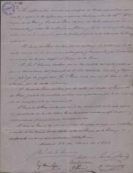 Documento proponiendo una fórmula para solucionar las diferencias habidas entre el Duque de la Torre y el Conde de Reus. (Madrid)