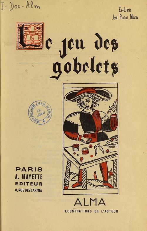 Libro : Le jeu des gobelets