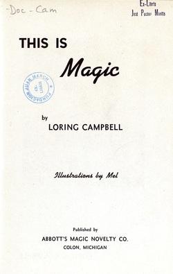 Ver ficha del libro: THIS IS MAGIC