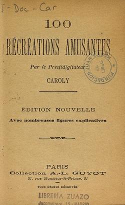 Ver ficha del libro: 100 RÉCRÉATIONS AMUSANTES