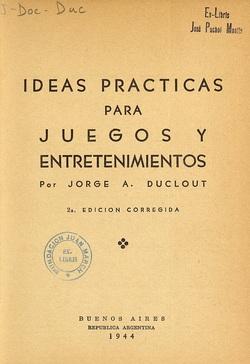 Ver ficha del libro: IDEAS PRÁCTICAS PARA JUEGOS Y ENTRETENIMIENTOS