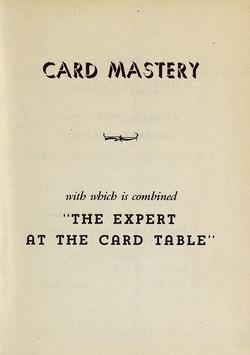 Ver ficha del libro: CARD MASTERY