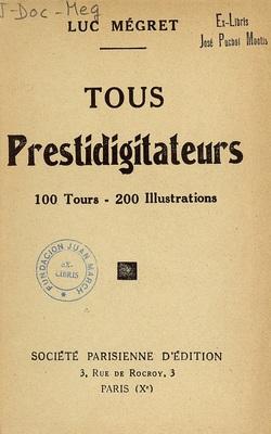 Ver ficha del libro: TOUS PRESTIDIGITATEURS